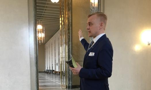 Timo Heinonen Eduskuntavierailu