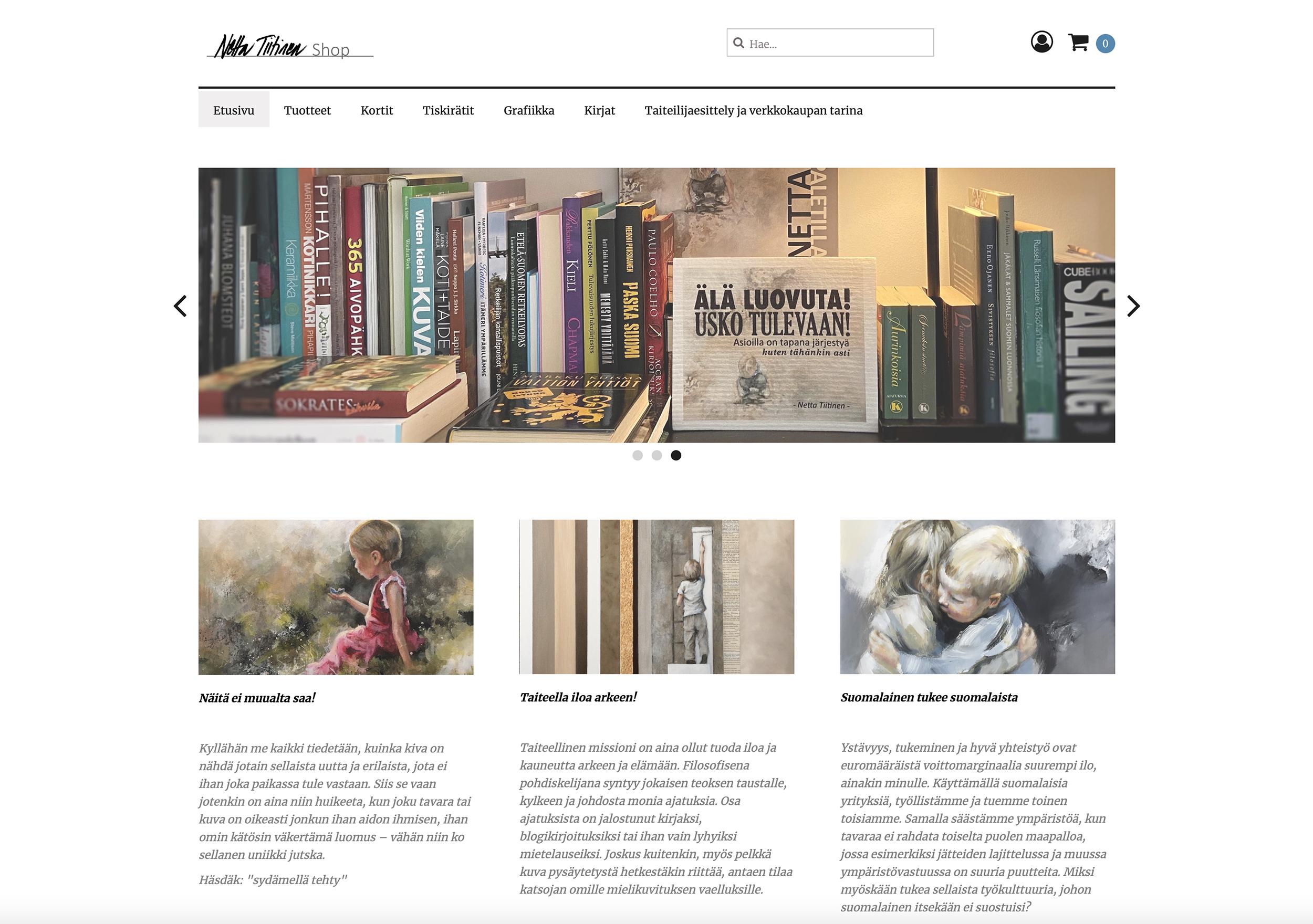 Netta Tiitinen Shop avattu web