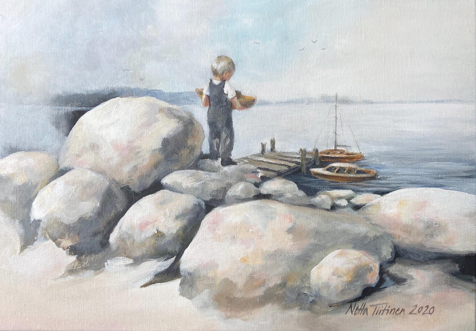 Veneenveistäjän kevät 50x35cm Netta Tiitinen Hetkestä ikuisuuteen - web